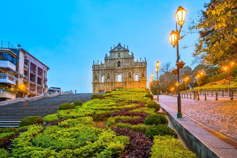 Las ruinas de San Pablo y de x27; s en Macao imagen de archivo libre de regalías