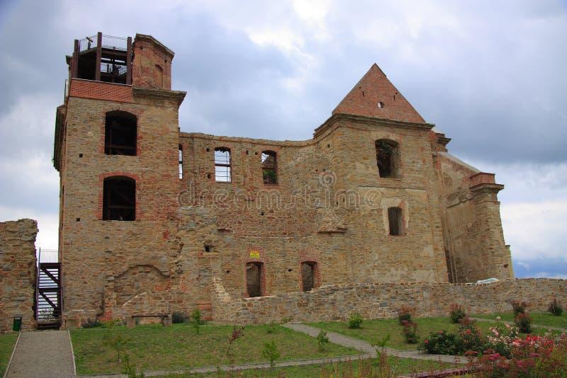 Las ruinas del monasterio de los padres carmelitas Discalced en rze del ³ de Zagà cerca de Sanok (Polonia, provincia de Podkarpac imágenes de archivo libres de regalías