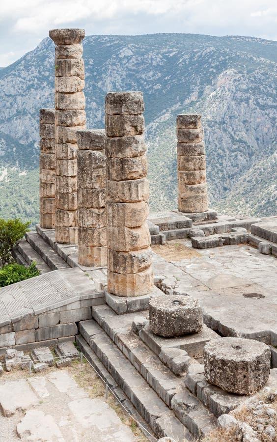 Templo de Apolo en Delphi fotografía de archivo libre de regalías