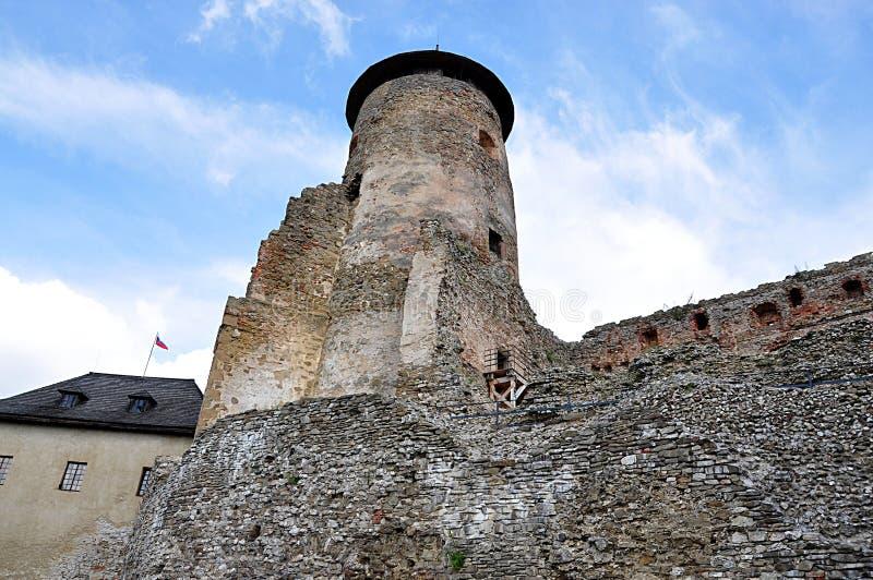 Las ruinas se escudan, Stara Lubovna, Eslovaquia, Europa fotografía de archivo libre de regalías