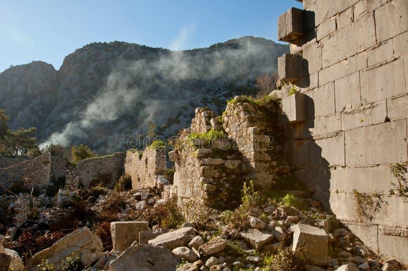 Las ruinas todavía de las civilizaciones antiguas extant foto de archivo libre de regalías