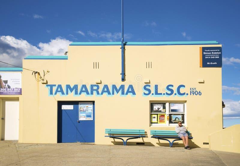 Las salvaciones de la playa de Tamarama aporrean en el bondi Sydney Australia imagen de archivo