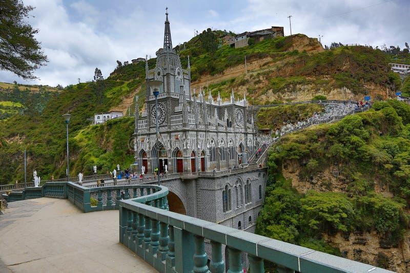 Las Sanktuarium Lajas zdjęcie stock