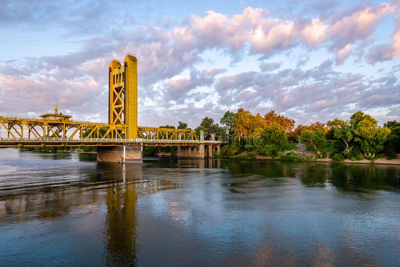 Las señales y los iconos de Sacramento del oeste imagen de archivo libre de regalías