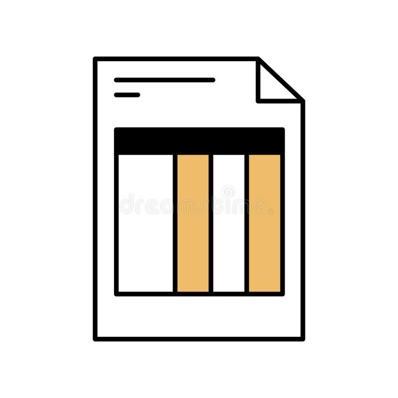 Las secciones del color siluetean de forma de la factura libre illustration