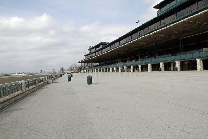 Las secciones espectadoras del hipódromo de Keeneland en Lexington, Kemtucky imagenes de archivo