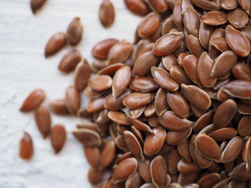 Las semillas de lino se cierran para arriba fotos de archivo libres de regalías