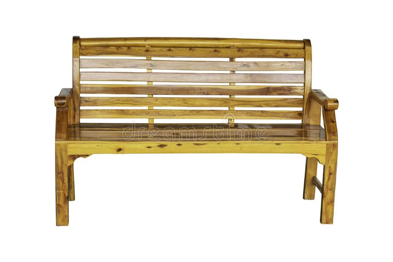 Las sillas de madera aisladas para se sientan y se relajan con un grano de madera hermoso en un fondo blanco con la trayectoria d fotografía de archivo libre de regalías