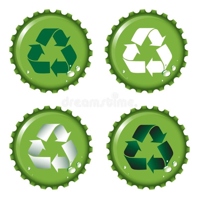 Las tapas de la botella reciclan libre illustration