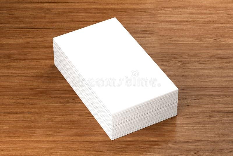 Las tarjetas de visita esconden la maqueta - plantilla, ejemplo 3D stock de ilustración