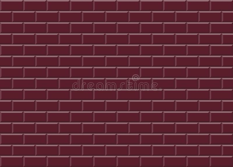 Las tejas de mosaico de cerámica rojas de Borgoña texturizan el fondo libre illustration