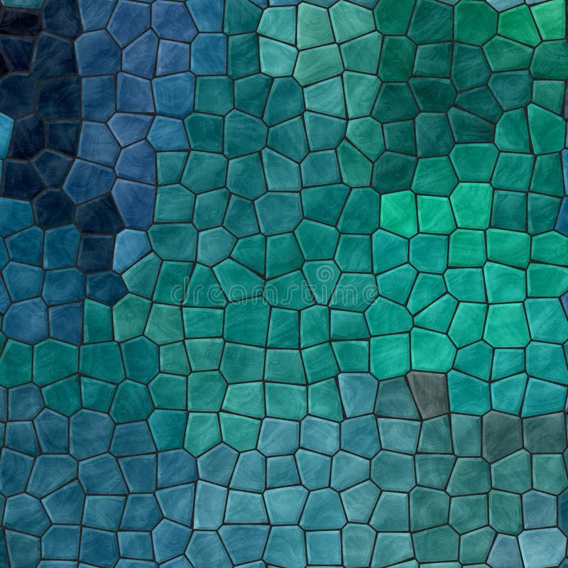 Las tejas de mosaico pedregosas plásticas del mármol de la naturaleza texturizan el fondo con la lechada negra - añil oscuro, tru ilustración del vector