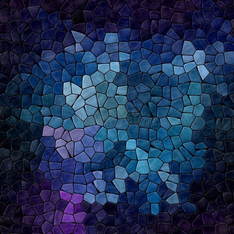 Las tejas de mosaico pedregosas plásticas del mármol de la naturaleza texturizan el fondo con lechada negra - colores azules, púr libre illustration