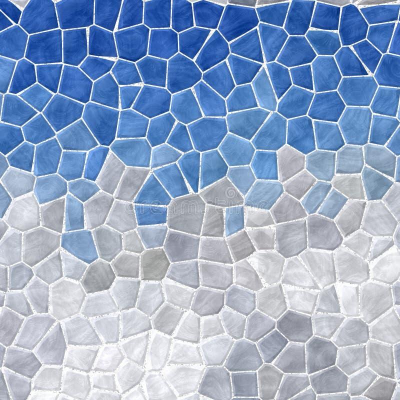 Las tejas de mosaico pedregosas plásticas de mármol abstractas texturizan el fondo con la lechada blanca - cielo azul sobre lands libre illustration