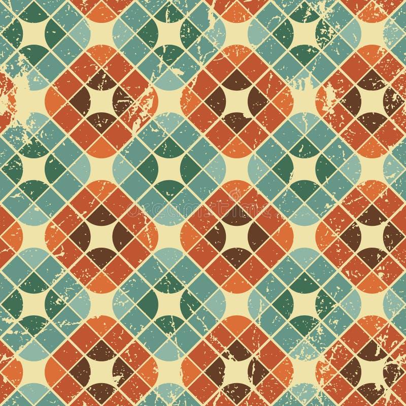 Las tejas del vintage con grunge texturizan el fondo inconsútil, vector IL ilustración del vector