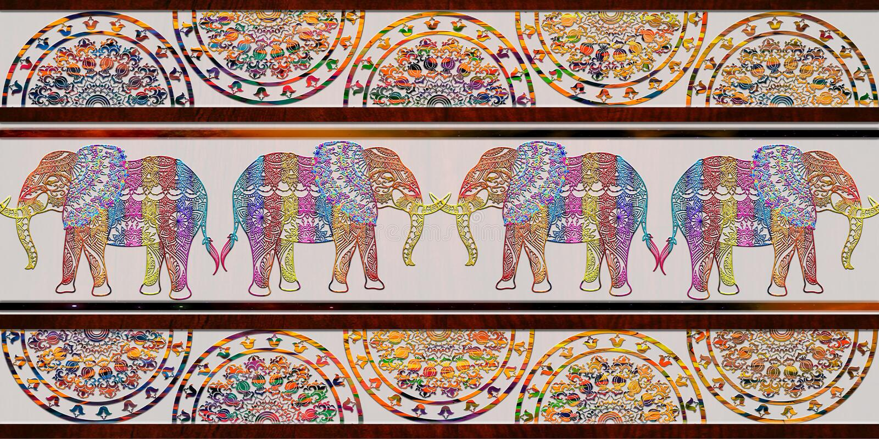 Las tejas digitales del color multi diseñan para las tejas caseras interiores o las tejas de cerámica diseño, linóleo, fondo, eje fotos de archivo libres de regalías
