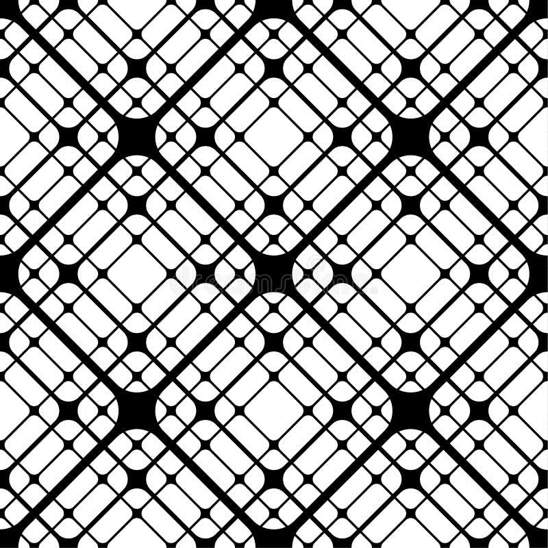 Las tejas geométricas con los Rhombus redondeados Vector el modelo inconsútil libre illustration