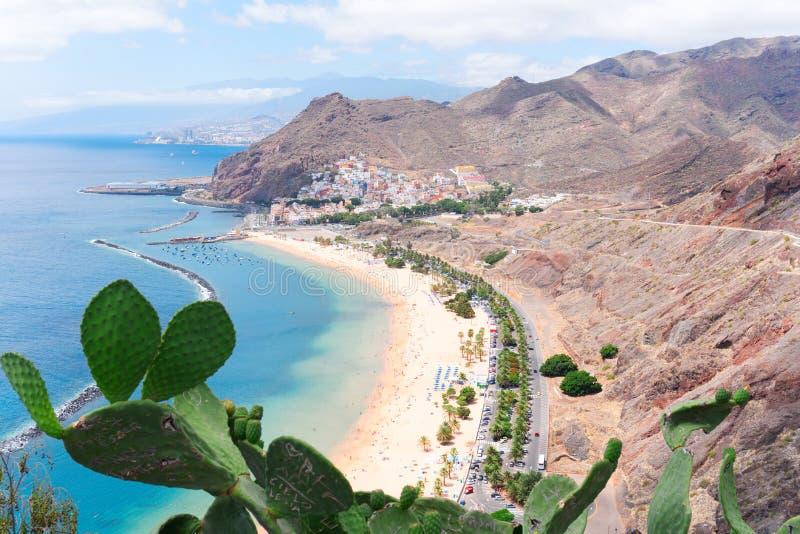 Las Teresitas海滩,特内里费岛 免版税图库摄影