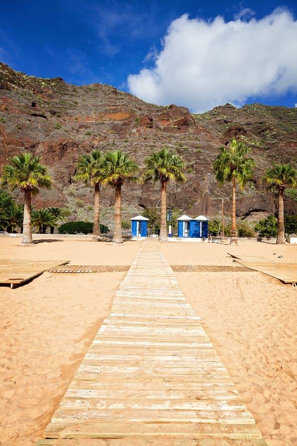 Las Teresitas Beach, Tenerife. View of Las Teresitas Beach, Tenerife, Spain stock photography