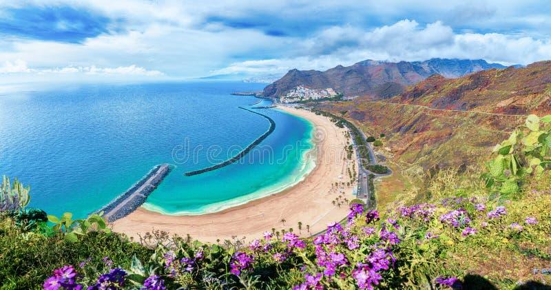 Las teresitas beach, Tenerife, Canary Islands, Spain. Amazing view of Las teresitas beach, Tenerife, Canary Islands, Spain stock photo