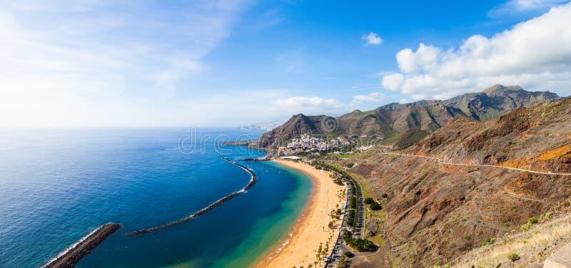 Las Teresitas Beach, Tenerife. Las Teresitas Beach in Tenerife, Spain stock photos