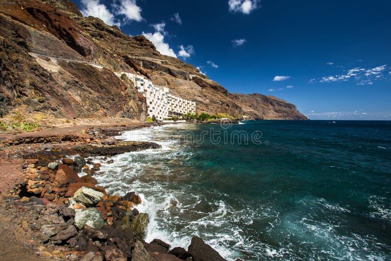 Las Teresitas. Beautiful beach Las Teresitas in Tenerife royalty free stock photo