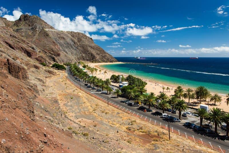 Las Teresitas. Beautiful beach Las Teresitas in Tenerife royalty free stock photography