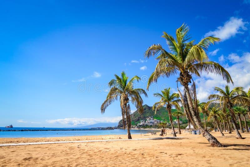 Las Teresitas, Tenerife, Canarische Eilanden, Spanje: Het strand van Lasteresitas royalty-vrije stock afbeelding