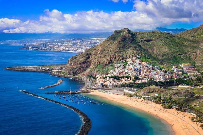 Las Teresitas, Tenerife,Canary islands,Spain: Las Teresitas beach and San Andres village. Las Teresitas, Tenerife,Canary islands,Spain: Playa de Las Teresitas, a stock images