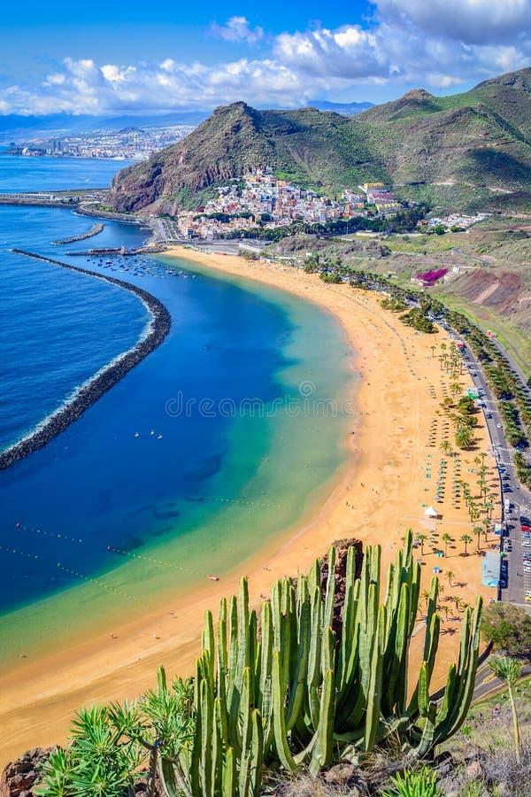 Las Teresitas, Tenerife, kanariefågelöar, Spanien: Las Teresitas beac arkivfoton