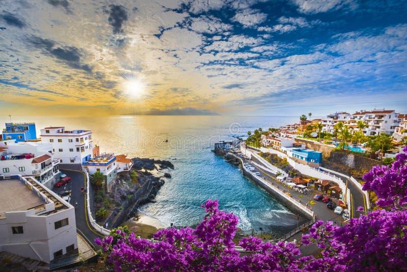 Las teresitasstrand av Tenerife, kanariefågelöar, Spanien royaltyfri fotografi