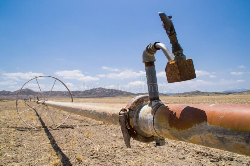 Las tierras de labrantío secas de California fotografía de archivo libre de regalías