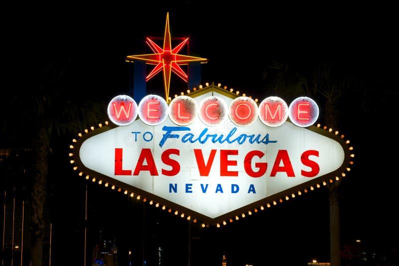 Las Till Den Vegas Välkomnandet Royaltyfri Bild