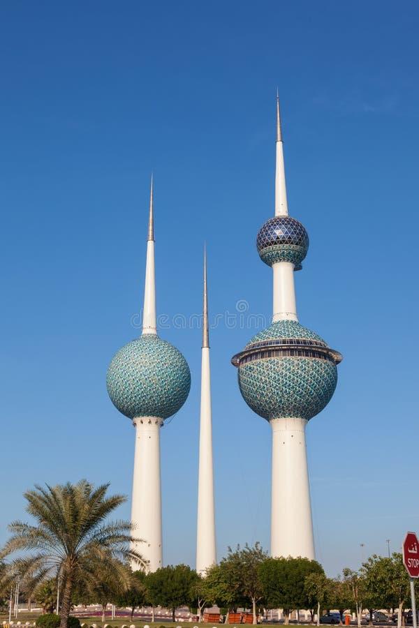 Las torres de Kuwait foto de archivo