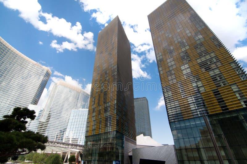 Las torres del centro turístico y del casino de la aria fotografía de archivo