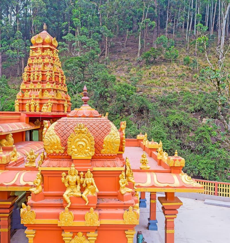 Las torres del templo hindú foto de archivo libre de regalías