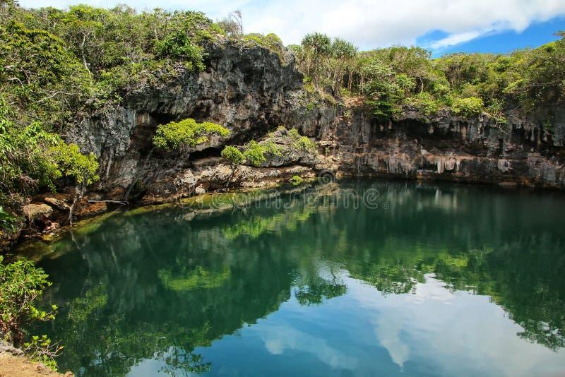 Las tortugas agujerean en el norte de la isla de Ouvea, islas de lealtad, Nueva Caledonia imagen de archivo libre de regalías
