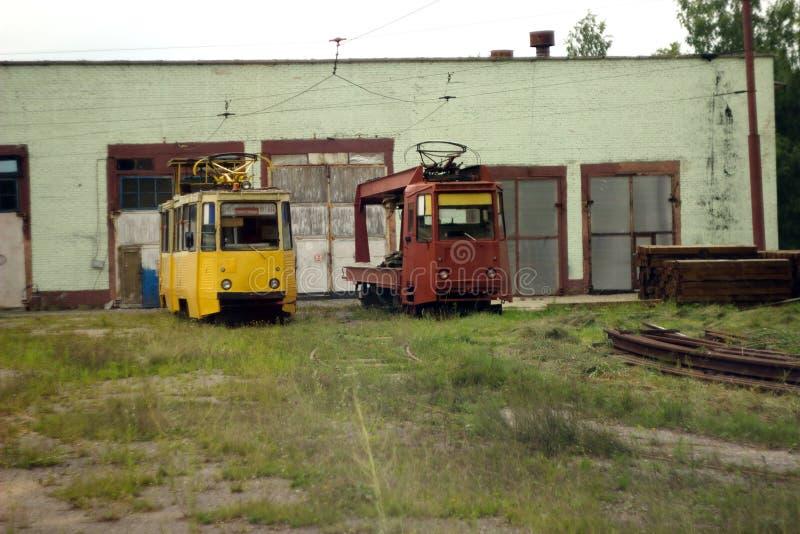 Las tranvías viejas fotografía de archivo libre de regalías