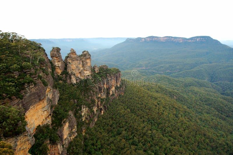 Las tres hermanas de Echo Point, parque nacional de las montañas azules, NSW, Australia imágenes de archivo libres de regalías