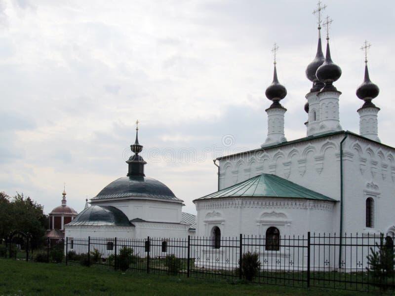Las tres iglesias de Suzdal fotografía de archivo