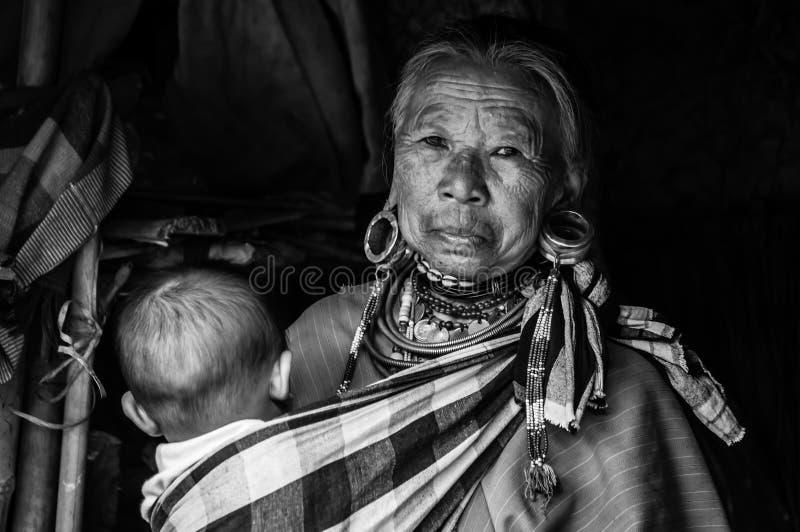 Las tribus BW 3 de Karen Hill de los retratos fotografía de archivo libre de regalías