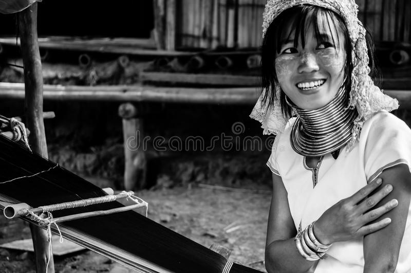 Las tribus BW 14 de Karen Hill de los retratos imágenes de archivo libres de regalías