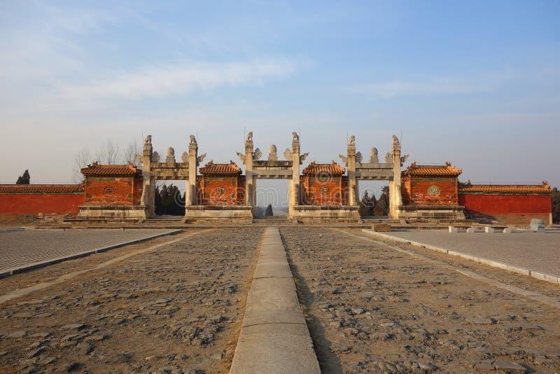 Las tumbas de Ming fotos de archivo libres de regalías