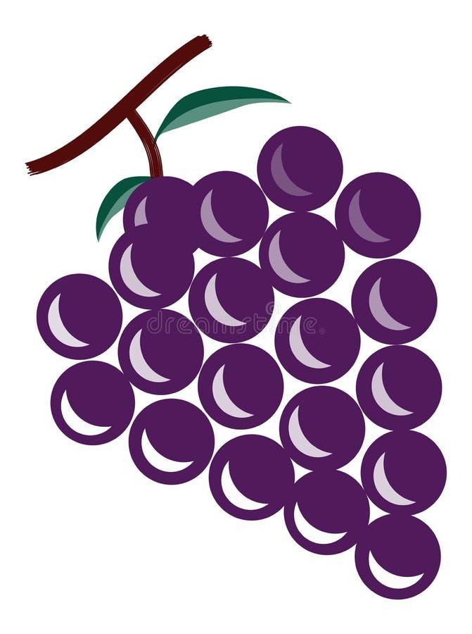 Las uvas stock de ilustración