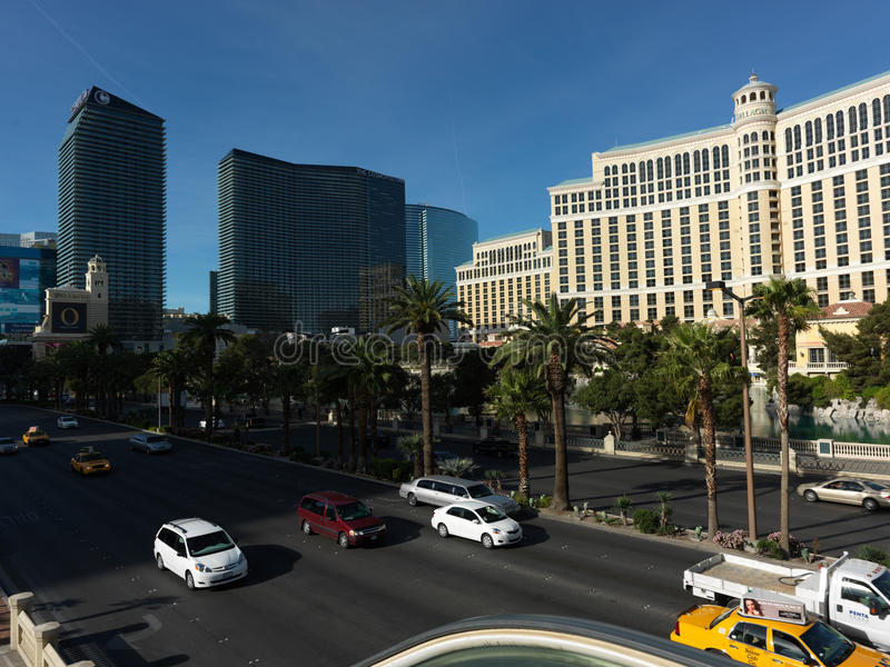 Las Vagas. Street, Day. I'm standing on the escalator royalty free stock image