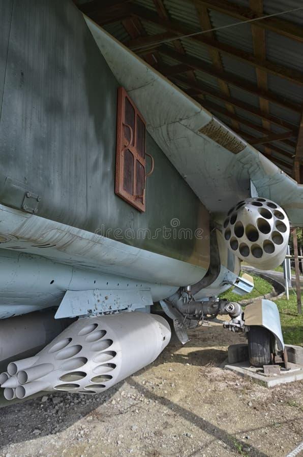Las vainas del cohete del MiG-23 imágenes de archivo libres de regalías