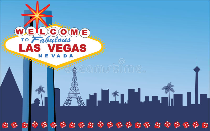 Las Vegas stock illustratie