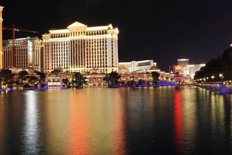 Las Vegas. Caesars Palace in Las Vegas at night royalty free stock photography