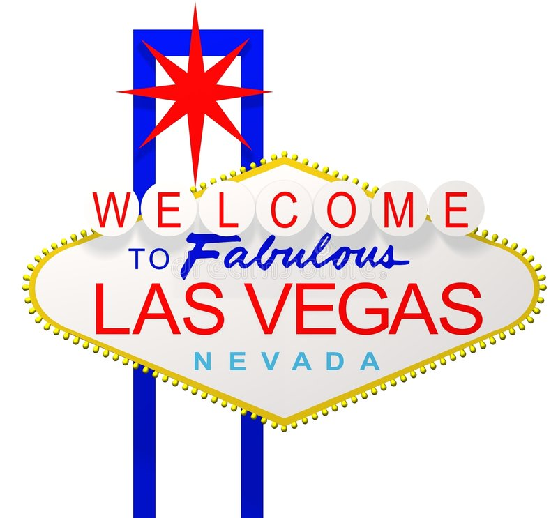 Las Vegas. 3D render of the sign Welcome to fabulous Las Vegas Nevada