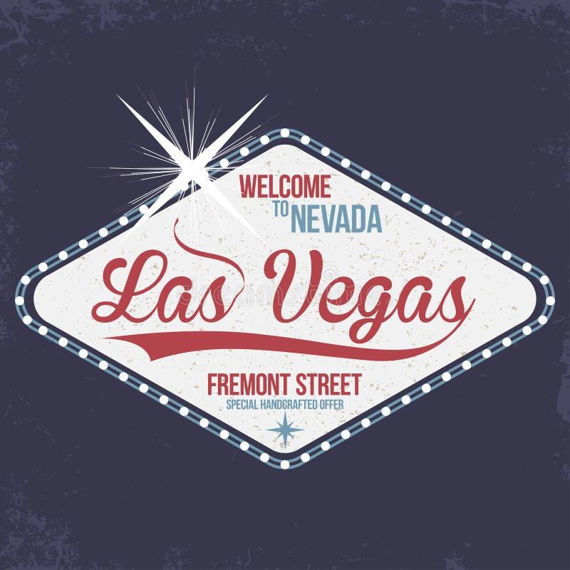 Las Vegas Accueil vers le Nevada, timbre avec le grunge Typographie de vintage, graphiques de T-shirt illustration stock